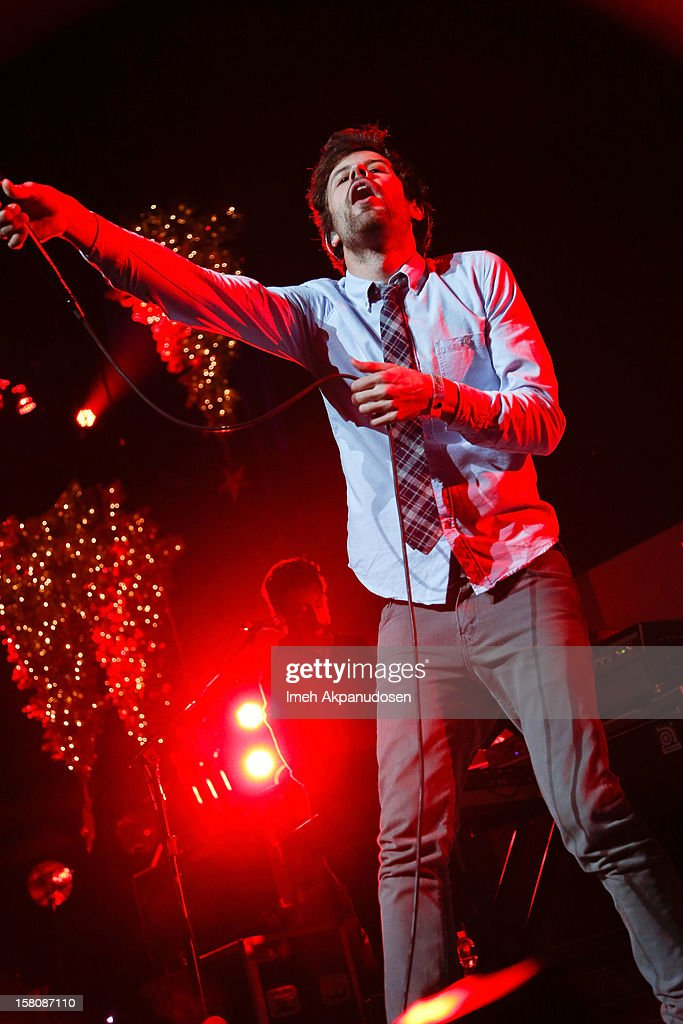 Michael Angelakos of Passion Pit performs onstage at the 23rd Annual KROQ Almost Acoustic Christmas at Gibson Amphitheatre on December 9, 2012 in Universal City, California.