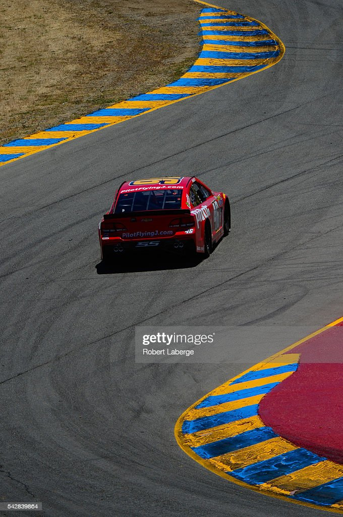 <a gi-track='captionPersonalityLinkClicked' href=/galleries/search?phrase=Michael+Annett&family=editorial&specificpeople=4531973 ng-click='$event.stopPropagation()'>Michael Annett</a>, driver of the #46 Pilot Flying J Chevrolet, practices for the NASCAR Sprint Cup Series Toyota/Save Mart 350 at Sonoma Raceway on June 24, 2016 in Sonoma, California.