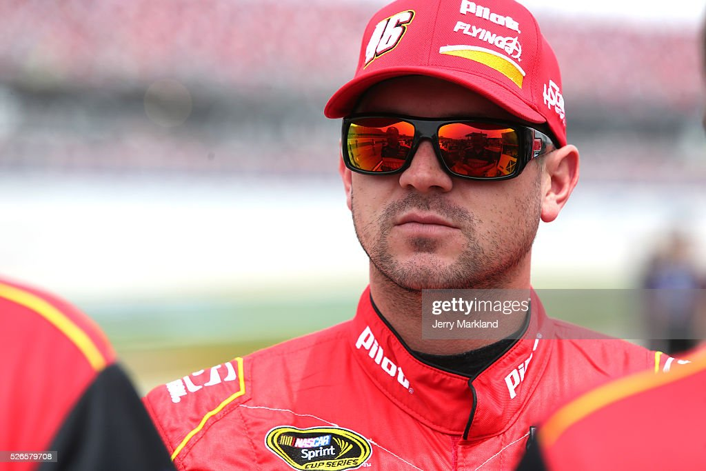 <a gi-track='captionPersonalityLinkClicked' href=/galleries/search?phrase=Michael+Annett&family=editorial&specificpeople=4531973 ng-click='$event.stopPropagation()'>Michael Annett</a>, driver of the #46 Pilot Flying J Chevrolet, stands on the grid during qualifying for the NASCAR Sprint Cup Series GEICO 500 at Talladega Superspeedway on April 30, 2016 in Talladega, Alabama.