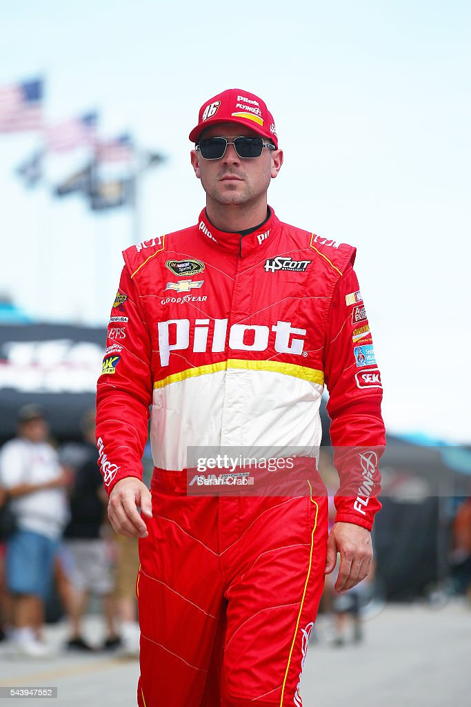<a gi-track='captionPersonalityLinkClicked' href=/galleries/search?phrase=Michael+Annett&family=editorial&specificpeople=4531973 ng-click='$event.stopPropagation()'>Michael Annett</a>, driver of the #46 Pilot Flying J Chevrolet, walks through the garage area during practice for the NASCAR Sprint Cup Series Coke Zero 400 at Daytona International Speedway on June 30, 2016 in Daytona Beach, Florida.