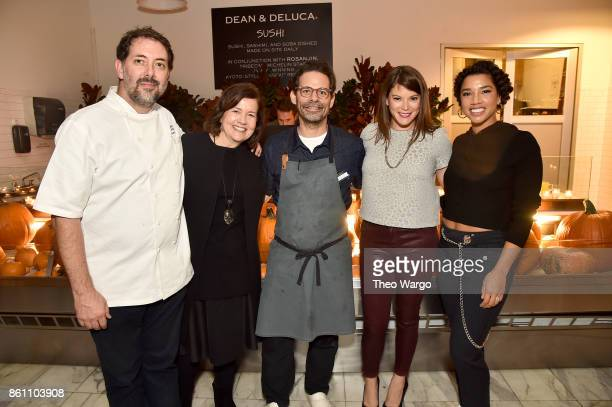 Michael Anthony Laura Lendrim Brian Bistrong Gail Simmons and Hannah Bronfman attend Late Night Adventures in Dean DeLuca hosted by Hannah Bronfman...