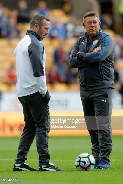 Michael Appleton and Craig Shakespeare of Leicester City during the PreSeason Friendly between Wolverhampton Wanderers and Leicester City at Molineux...