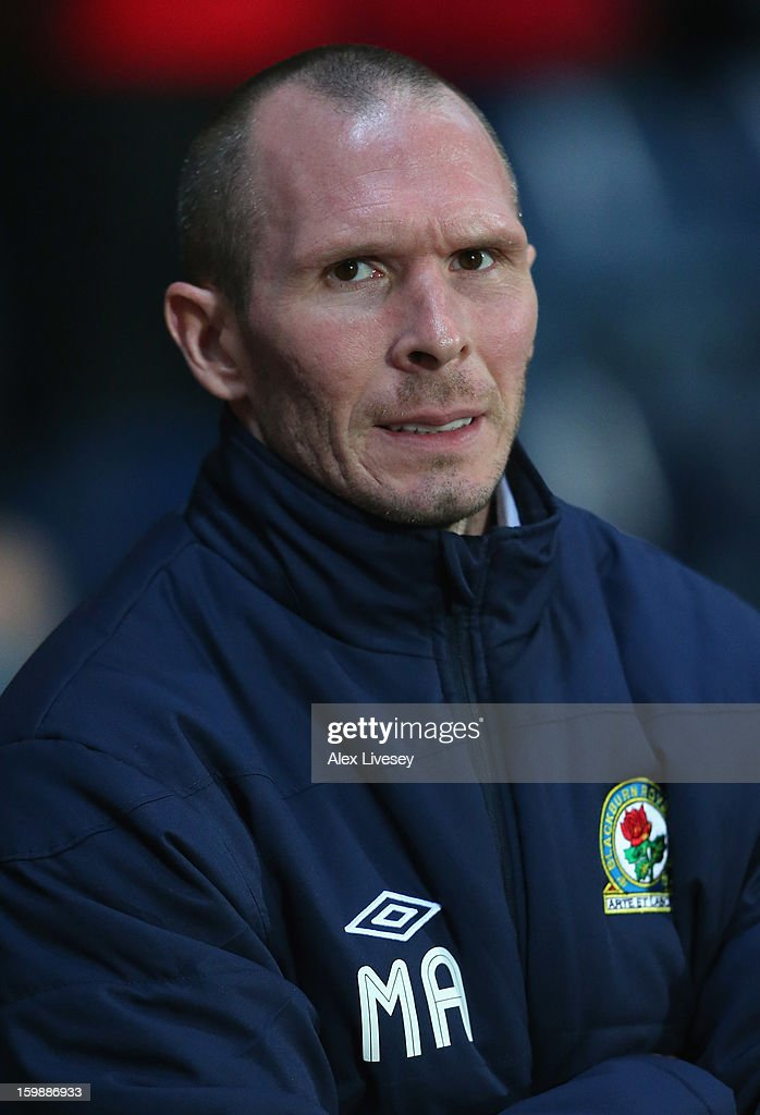 Michael Appleton the manager of Blackburn Rovers looks on during the npower Championship match between Blackburn Rovers and Brighton & Hove Albion at Ewood park on January 22, 2013 in Blackburn, England.