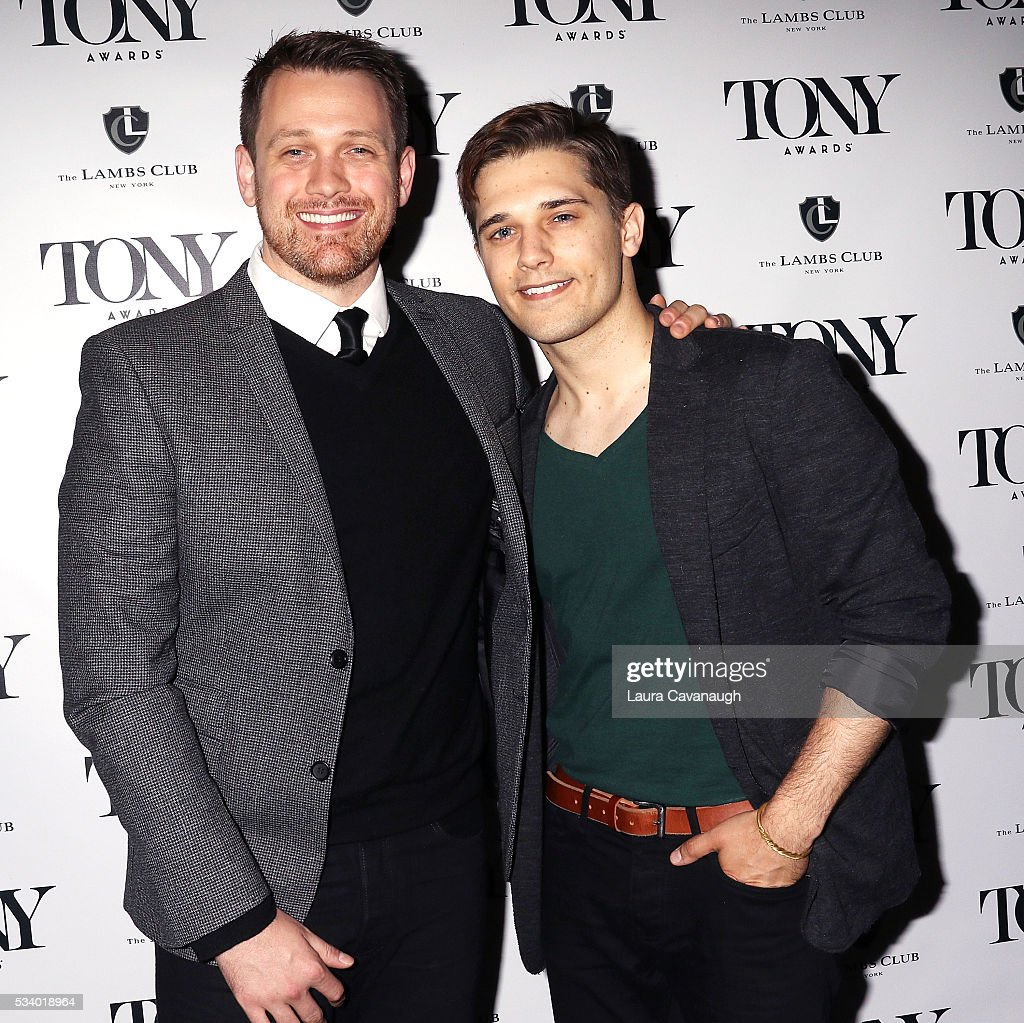 Michael Arden and Andy Mientus attend A Toast to The 2016 Tony Awards Creative Arts Nominees on May 24, 2016 in New York City.