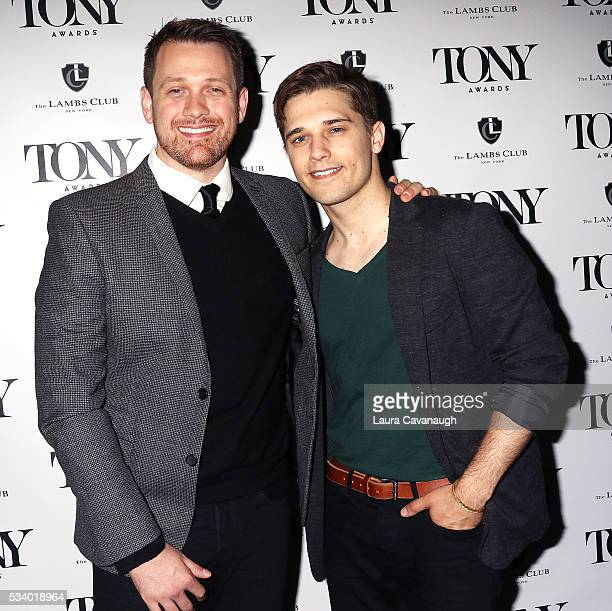 Michael Arden and Andy Mientus attend A Toast to The 2016 Tony Awards Creative Arts Nominees on May 24 2016 in New York City