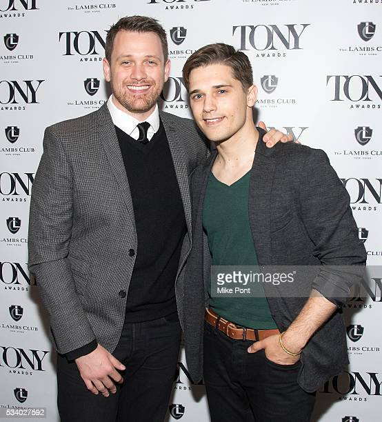 Michael Arden and Andy Mientus attend A Toast to the 2016 Tony Awards Creative Arts Nominees at The Lambs Club on May 24 2016 in New York City