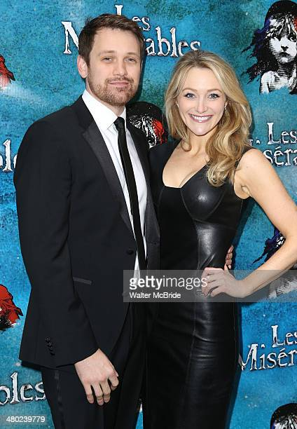 Michael Arden and Betsy Wolfe attend the 'Les Miserables' On Broadway Opening Night at Imperial Theatre on March 23 2014 in New York City