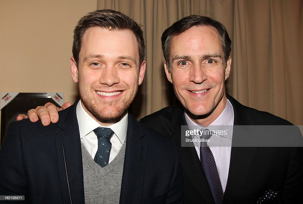 Michael Arden and Howard McGillin pose backstage at 'Ragtime' on Broadway at Avery Fisher Hall on February 18, 2013 in New York City.