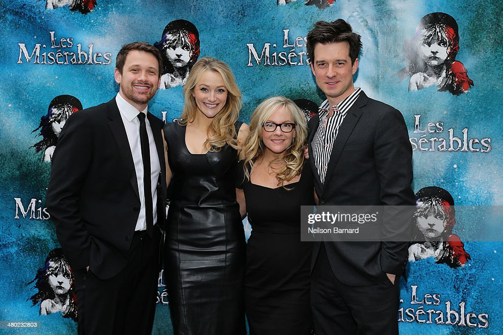 Michael Arden, Betsy Wolfe, Rachael Harris and Christian Hebel attend the opening night of Cameron Mackintosh's new production of Boublil and Schonberg's 'Les Miserables' on Broadway at The Imperial Theatre on March 23, 2014 in New York City.