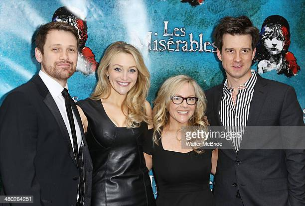 Michael Arden Betsy Wolfe Rachael Harris and Christian Hebel attend the 'Les Miserables' On Broadway Opening Night at Imperial Theatre on March 23...