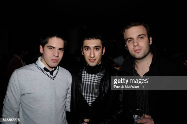 Michael Arguello Ariya Ghahramahl and Adam Fisher attend LnA Afterparty hosted by MAC Milk at Milk Gallery on February 11 2010 in New York City