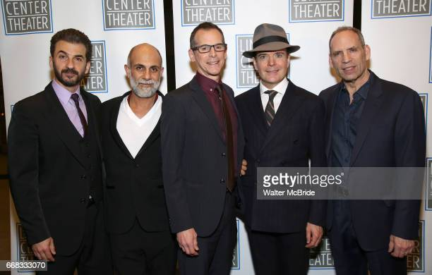 Michael Aronov Anthony Azizi T Ryder Smith Jefferson Mays and Daniel Oreskes attend the Opening Night Performance press reception for the Lincoln...