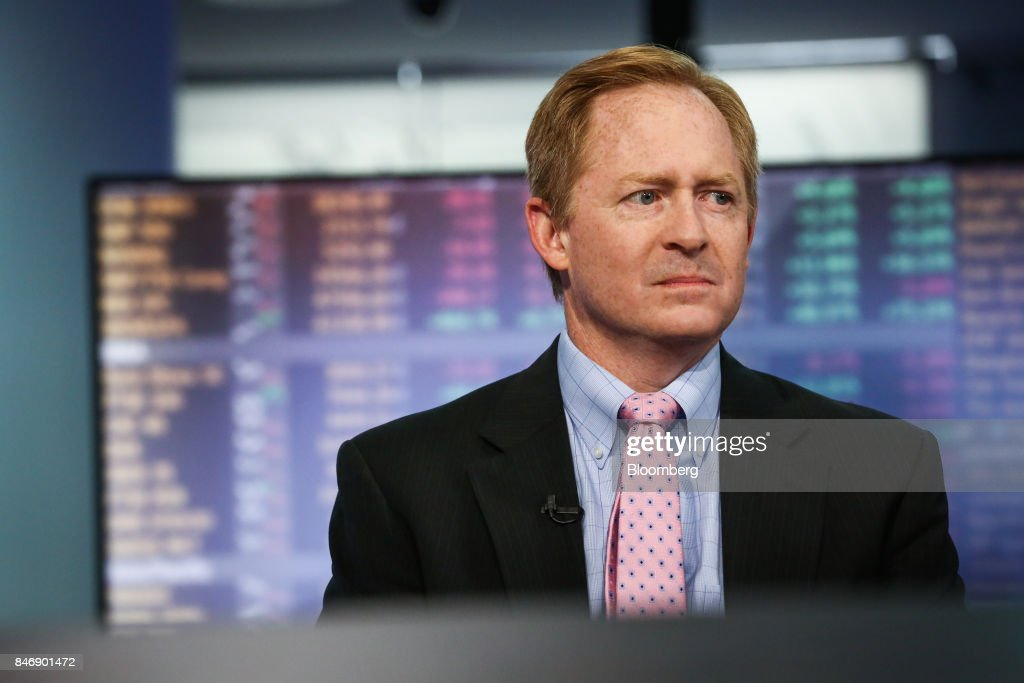Michael Ashton, managing principal of Enduring Investments LLC, listens during a Bloomberg Television interview in New York, U.S., on Thursday, Sept. 14, 2017. Ashton examined U.S. unemployment and wage growth. Photographer: Christopher Goodney/Bloomberg via Getty Images