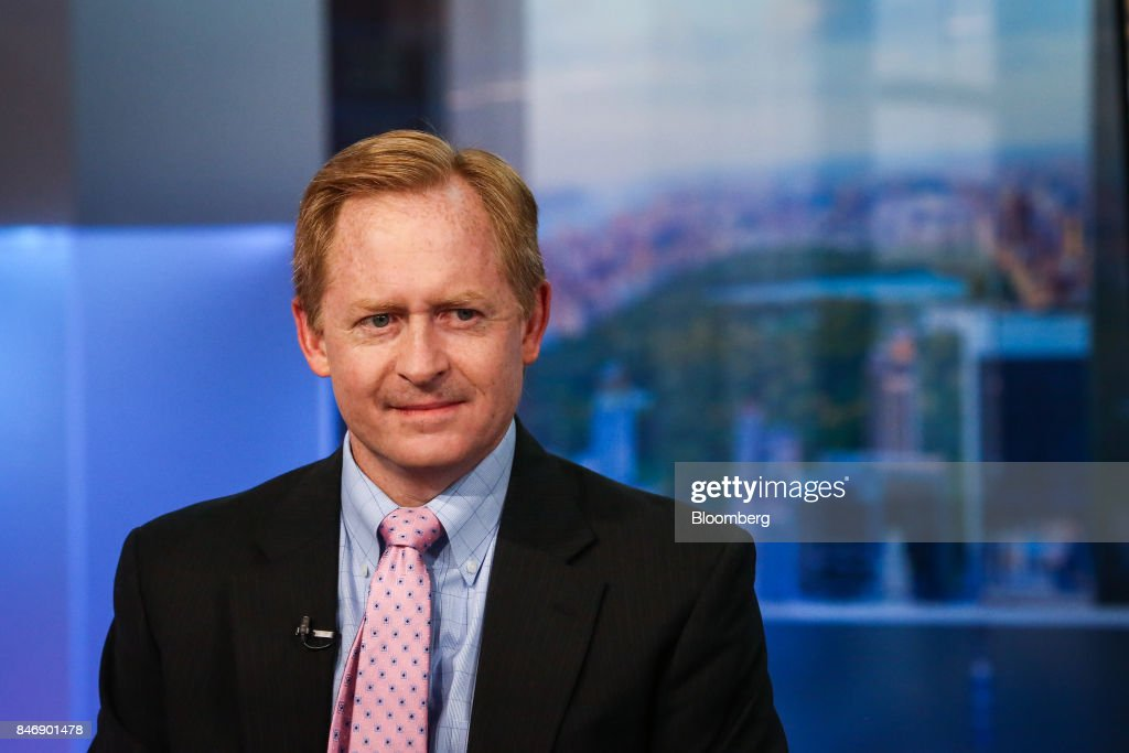 Michael Ashton, managing principal of Enduring Investments LLC, smiles during a Bloomberg Television interview in New York, U.S., on Thursday, Sept. 14, 2017. Ashton examined U.S. unemployment and wage growth. Photographer: Christopher Goodney/Bloomberg via Getty Images