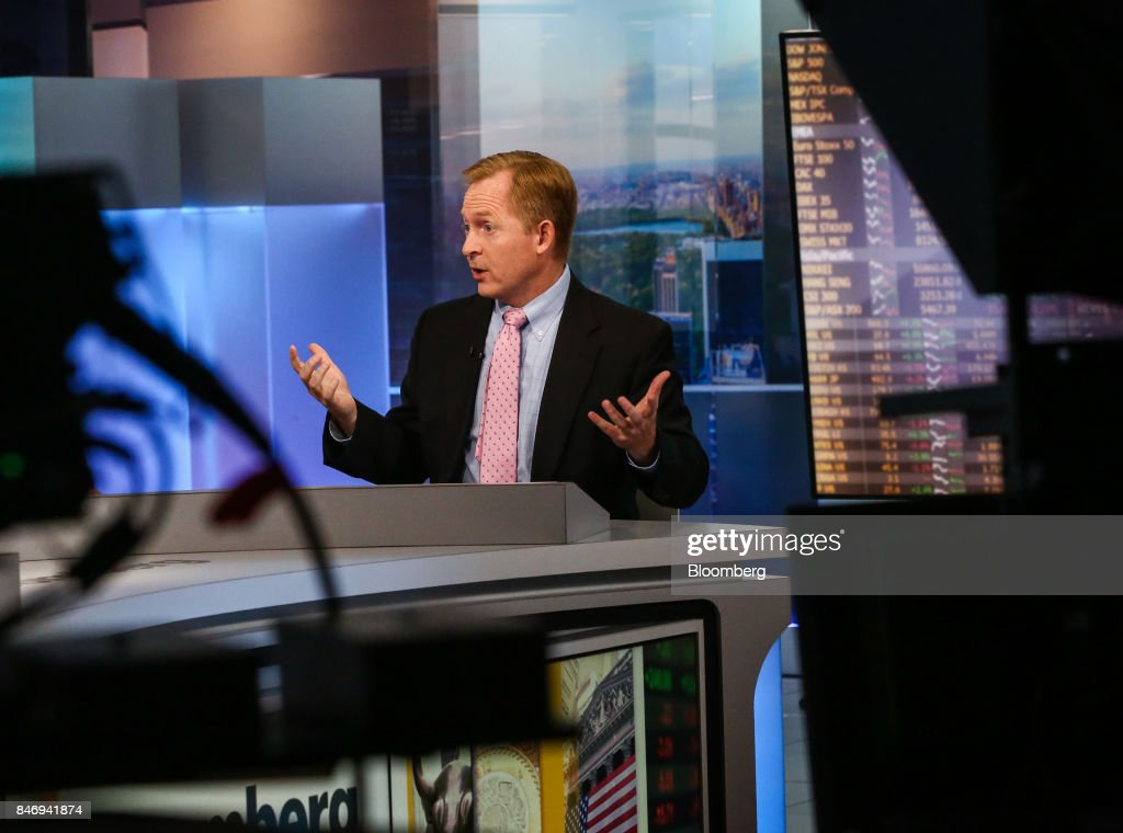 Michael Ashton, managing principal of Enduring Investments LLC, speaks during a Bloomberg Television interview in New York, U.S., on Thursday, Sept. 14, 2017. Ashton examined U.S. unemployment and wage growth. Photographer: Christopher Goodney/Bloomberg via Getty Images
