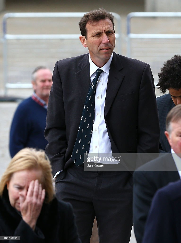 Michael Atherton attends a memorial service to journalist and former president of the MCC, Christopher Martin-Jenkins MBE at St Paul's Cathedral on April 16, 2013 in London, England.
