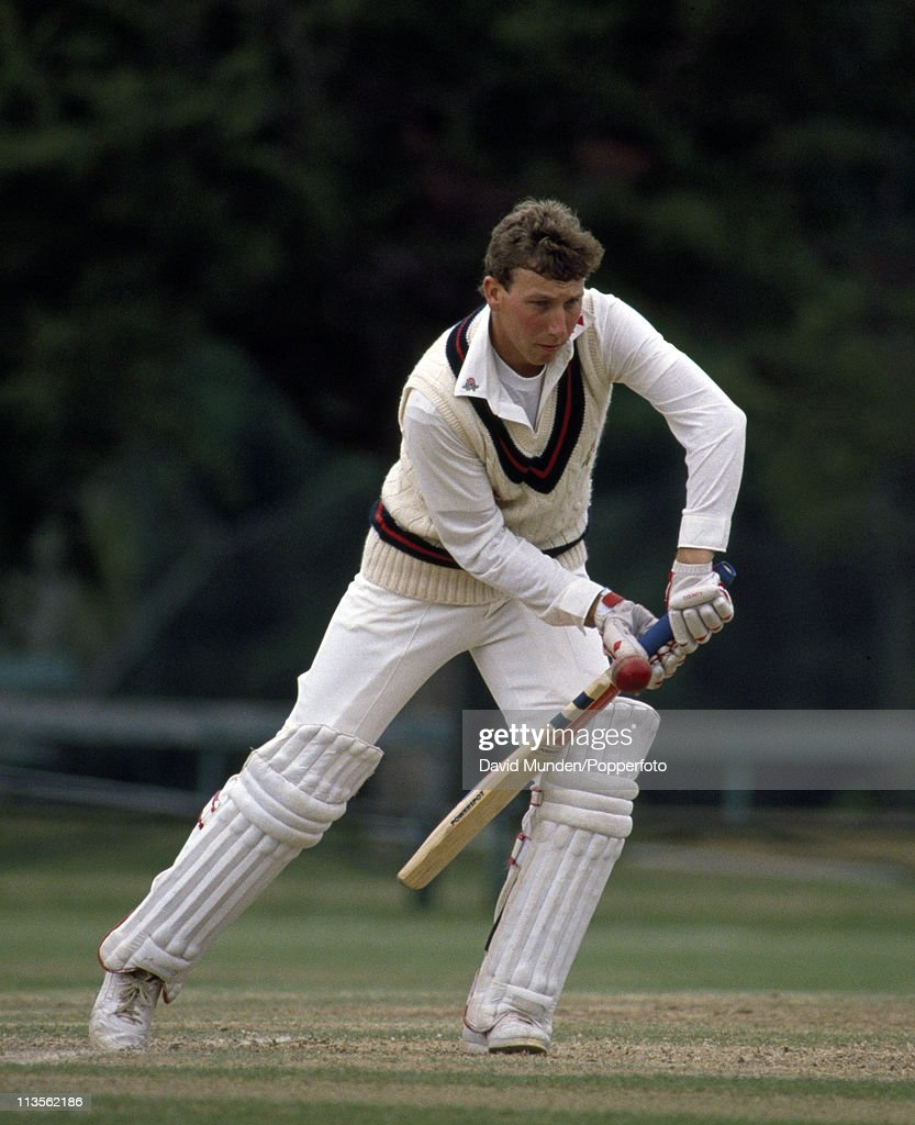 Michael Atherton batting for Lancashire against Oxford University at The Parks Oxford on the 18th June 1990 The match ended in a draw