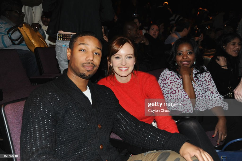 Michael B. Jordan, Ahna O'Reilly and Octavia Spencer attend the 'Fruitvale' premiere at The Marc Theatre during the 2013 Sundance Film Festival on January 19, 2013 in Park City, Utah.