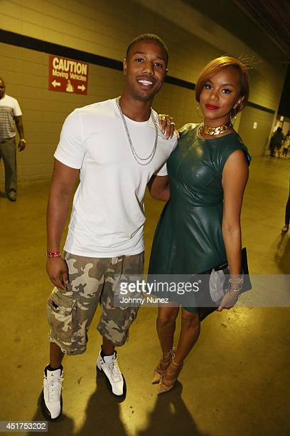 Michael B Jordan and LeToya Luckett attend the 2014 Essence Music Festival on July 5 2014 in New Orleans Louisiana
