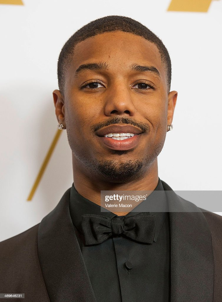 <a gi-track='captionPersonalityLinkClicked' href=/galleries/search?phrase=Michael+B.+Jordan+-+Actor&family=editorial&specificpeople=608313 ng-click='$event.stopPropagation()'>Michael B. Jordan</a> arrives at the Academy Of Motion Picture Arts And Sciences' Scientific And Technical Awards Ceremony at Beverly Hills Hotel on February 15, 2014 in Beverly Hills, California.