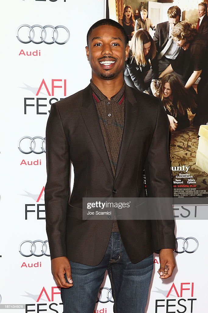 <a gi-track='captionPersonalityLinkClicked' href=/galleries/search?phrase=Michael+B.+Jordan+-+Actor&family=editorial&specificpeople=608313 ng-click='$event.stopPropagation()'>Michael B. Jordan</a> arrives at the AFI FEST 2013 Presented By Audi - Los Angeles Times Young Hollywood Roundtable at TCL Chinese Theatre on November 8, 2013 in Hollywood, California.