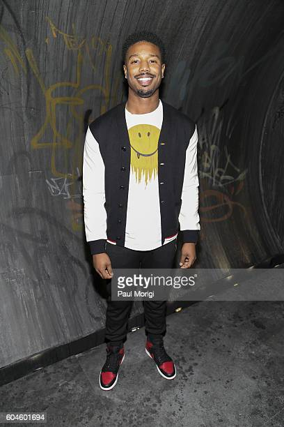 Michael B Jordan arrives at the Coach 1941 Women's Spring 2017 Show at Pier 76 on September 13 2016 in New York City