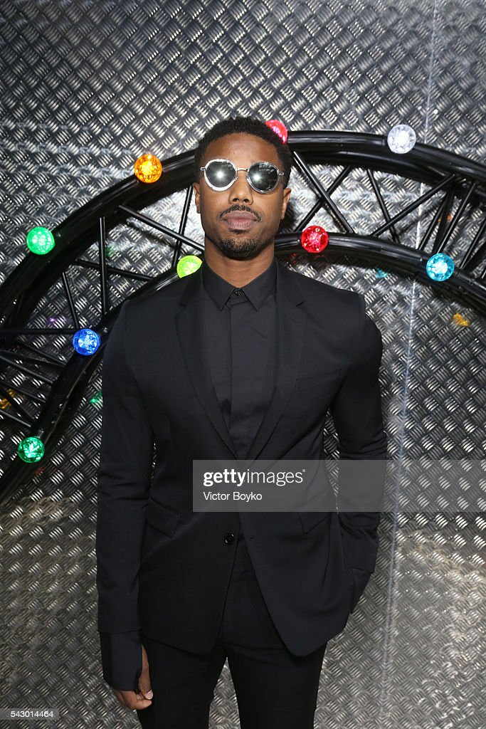 Michael B Jordan attends at the Dior Homme Menswear Spring/Summer 2017 show as part of Paris Fashion Week on June 25, 2016 in Paris, France.
