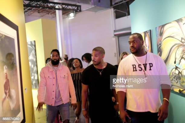 Michael B Jordan attends BACARDI Swizz Beatz and The Dean Collection bring NO COMMISSION back to Miami to celebrate 'Island Might' at Soho Studios on...