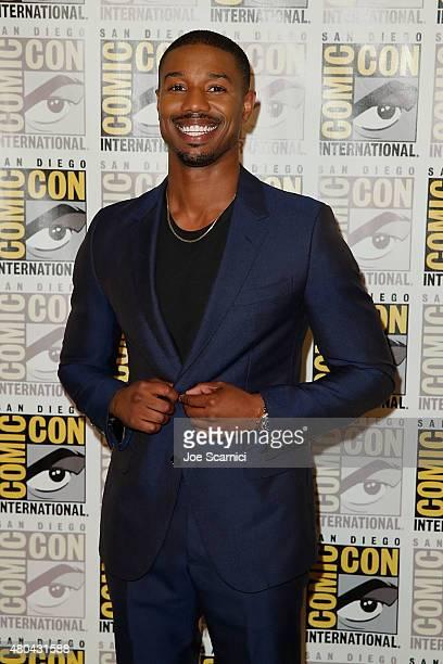 Michael B Jordan attends the 20'th Century Fox Press Line at ComicCon International 2015 Day 3 on July 11 2015 in San Diego California