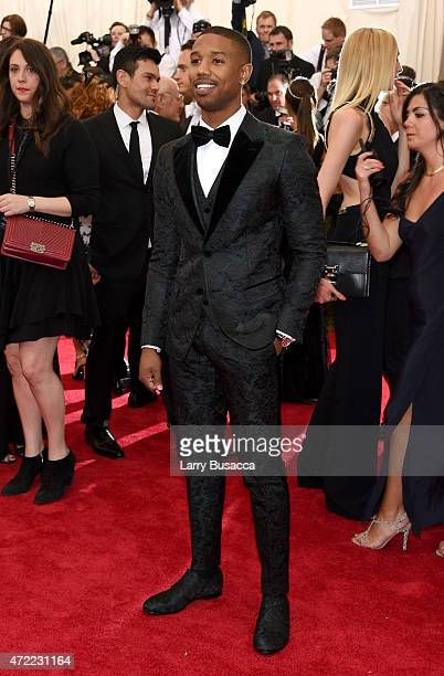 Michael B Jordan attends the 'China Through The Looking Glass' Costume Institute Benefit Gala at the Metropolitan Museum of Art on May 4 2015 in New...