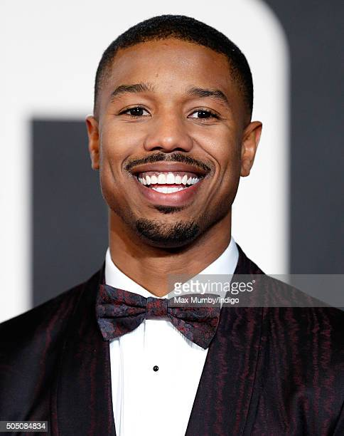 Michael B Jordan attends the European Premiere of 'Creed' on January 12 2016 in London England
