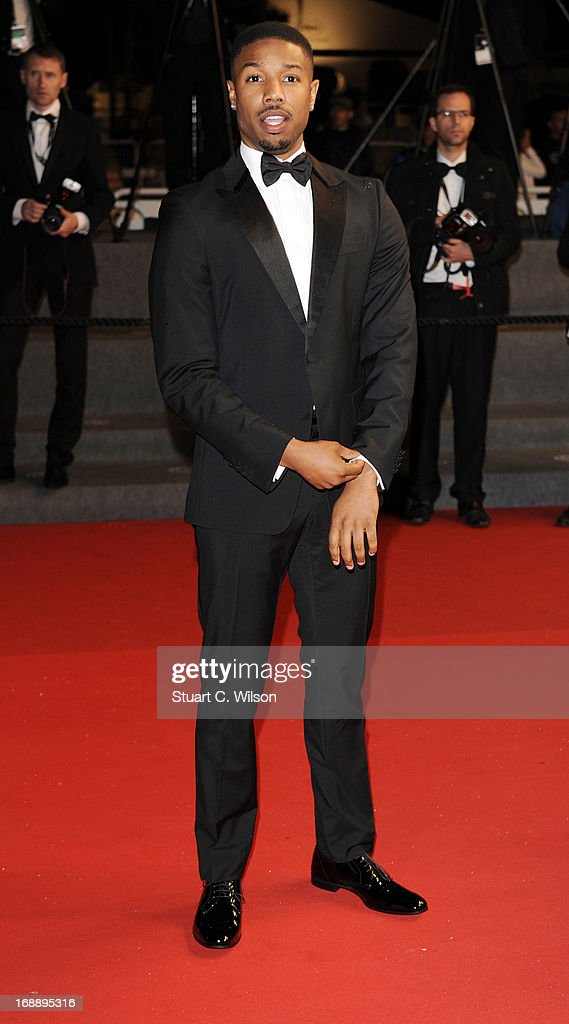 Michael B. Jordan attends the 'Fruitvale Station' Premiere during the 66th Annual Cannes Film Festival at the Palais des Festivals on May 16, 2013 in Cannes, France.