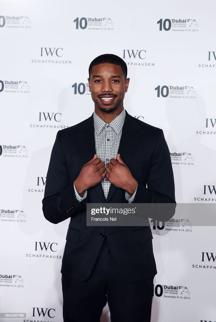 <a gi-track='captionPersonalityLinkClicked' href=/galleries/search?phrase=Michael+B.+Jordan+-+Actor&family=editorial&specificpeople=608313 ng-click='$event.stopPropagation()'>Michael B. Jordan</a> attends the IWC Schaffhausen FOR THE LOVE OF CINEMA IWC Filmmakers Award 2013 at One And Only Royal Mirage on December 7, 2013 in Dubai, United Arab Emirates.