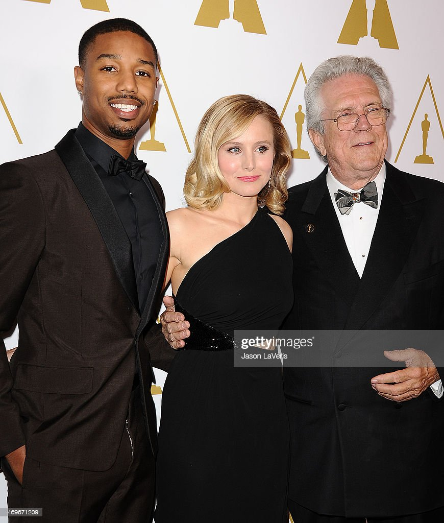 Michael B. Jordan, Kristen Bell and Richard Edlund attend the Academy of Motion Picture Arts and Sciences' Scientific and Technical Awards ceremony at Beverly Hills Hotel on February 15, 2014 in Beverly Hills, California.