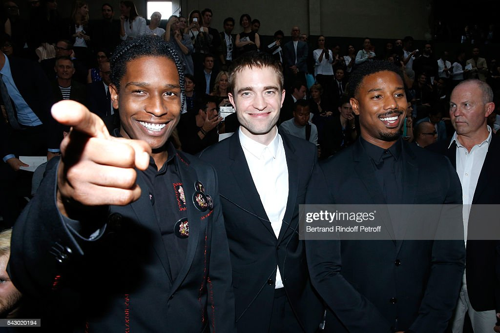 Michael B. Jordan, Robert Pattinson and A$AP Rocky attend the Dior Homme Menswear Spring/Summer 2017 show as part of Paris Fashion Week on June 25, 2016 in Paris, France.