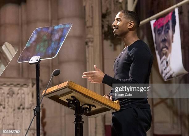 Michael B Jordan speaks at the 2016 MLK Now at Riverside Church on January 18 2016 in New York City