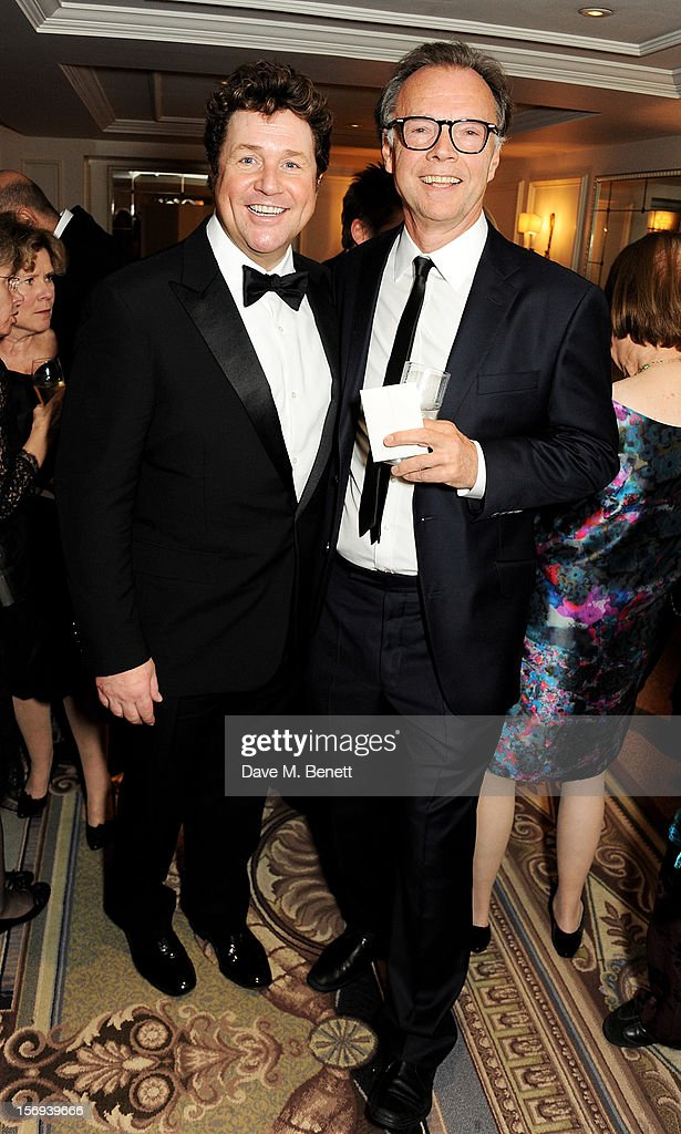 <a gi-track='captionPersonalityLinkClicked' href=/galleries/search?phrase=Michael+Ball+-+Singer&family=editorial&specificpeople=213179 ng-click='$event.stopPropagation()'>Michael Ball</a> (L) and Jonathan Kent attend a drinks reception at the 58th London Evening Standard Theatre Awards in association with Burberry at The Savoy Hotel on November 25, 2012 in London, England.