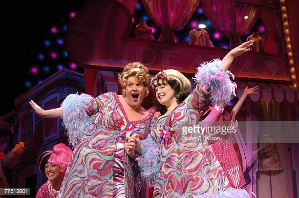 Michael Ball and Leanne Jones perform in a Photocall for 'Hairspray' to mark the musicals West End transfer at the Shaftsbury Theatre on October 26...