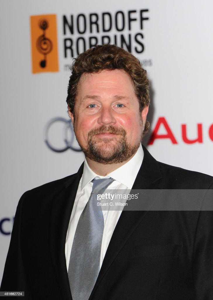 <a gi-track='captionPersonalityLinkClicked' href=/galleries/search?phrase=Michael+Ball+-+Singer&family=editorial&specificpeople=213179 ng-click='$event.stopPropagation()'>Michael Ball</a> attends the Nordoff Robbins 02 Silver Clef awards at London Hilton on July 4, 2014 in London, England.