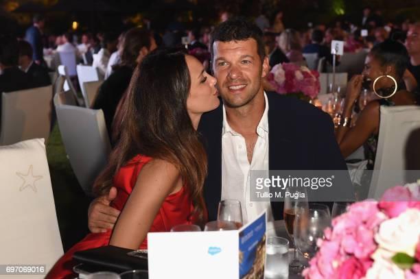 Michael Ballack and Natacha Tannous attend The Costa Smeralda Invitational Gala Dinner at Cala di Volpe Hotel Costa Smeralda on June 17 2017 in Olbia...