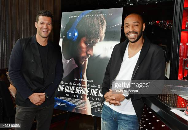 Michael Ballack and Thierry Henry attend the Beats by Dre 'The Game Before The Game' film screening event at W LondonLeicester Square on June 2 2014...