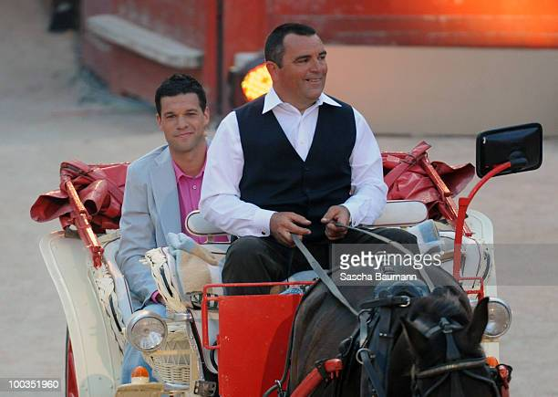 Michael Ballack arrives in a carriage at the Wetten Dass Summer Edition on May 23 2010 in Palma de Mallorca Spain
