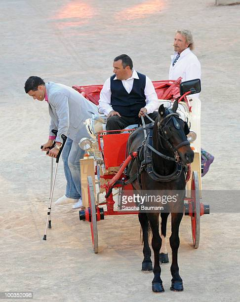 Michael Ballack arrives in a carriage the Wetten Dass Summer Edition on May 23 2010 in Palma de Mallorca Spain