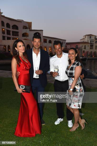 Michael Ballack Natacha Tannous Hasan Salihamidzic and Esther Copado attend The Costa Smeralda Invitational Gala Dinner at Cala di Volpe Hotel Costa...