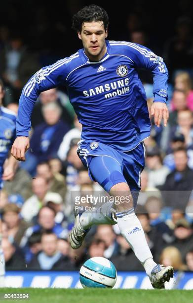 Michael Ballack of Chelsea in action during the Barclays Premier League match between Chelsea and Middlesbrough at Stamford Bridge on March 30 2008...