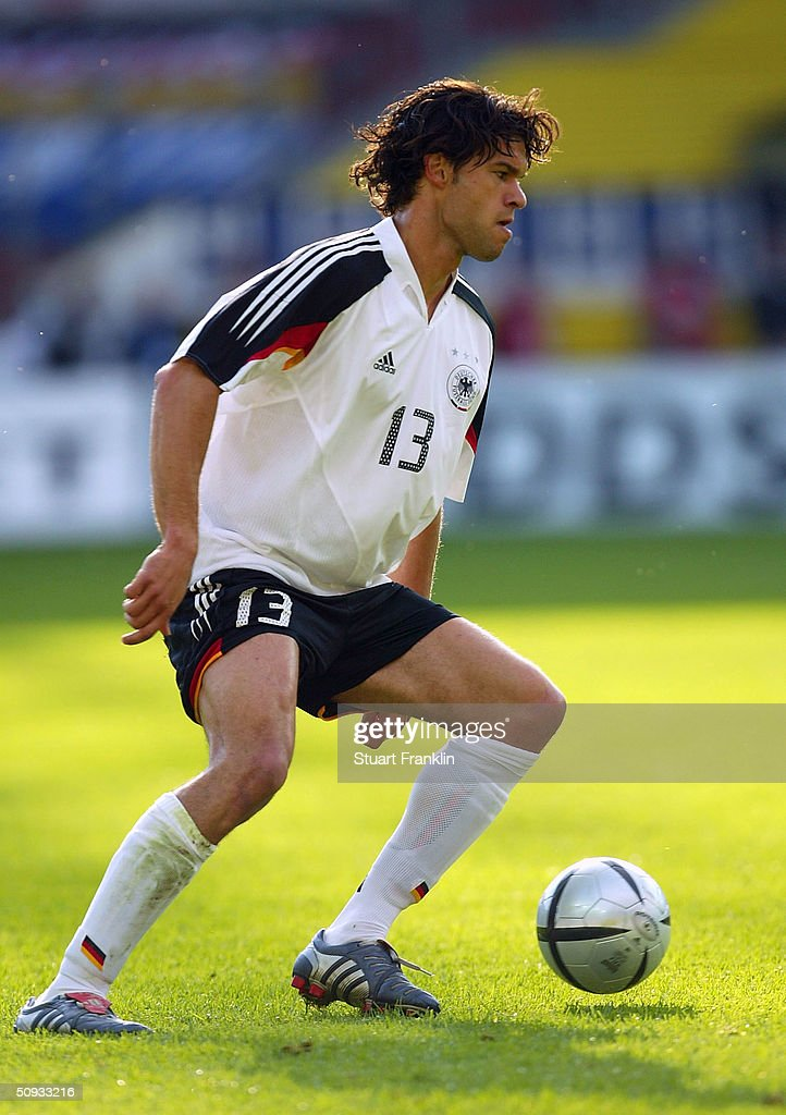 Michael Ballack of Germany in action during the International Friendly match between Germany and Hungary on June 6, 2004 at The Fritz-Walter Stadium in Kaiserlautern, Germany.