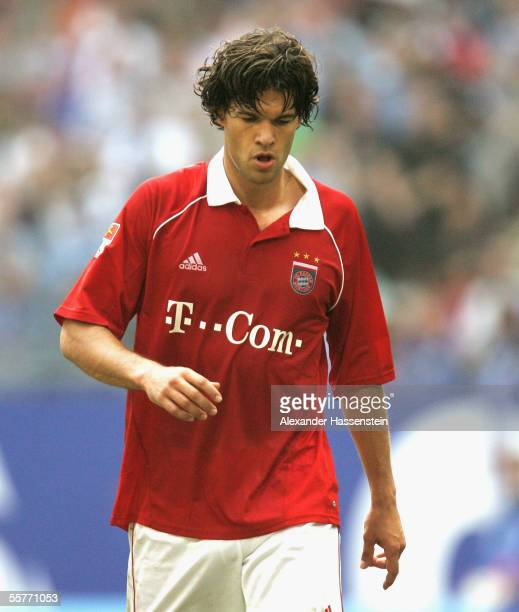 Michael Ballack of Munich reacts during the Bundesliga match between Hamburger SV and Bayern Munich at the AOL Arena on September 24 2005 in Hamburg...
