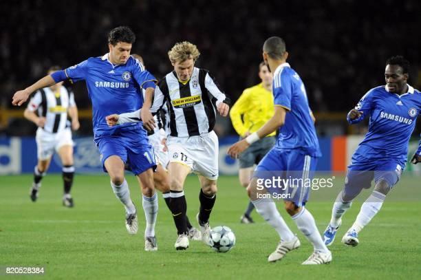 Michael BALLACK / Pavel NEDVED Juventus Turin / Chelsea 1/8 finale Champions League