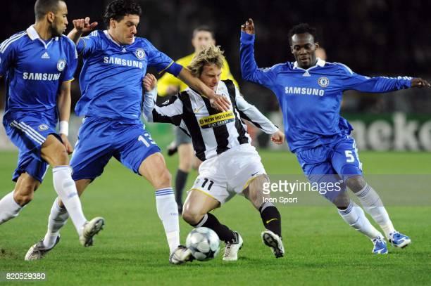 Michael BALLACK / Pavel NEDVED / Michael ESSIEN Juventus Turin / Chelsea 1/8 finale Champions League