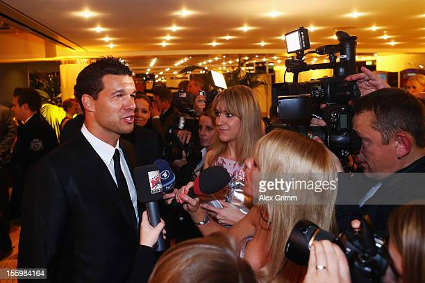 Michael Ballack talks to the media during the 31 Sportpresseball at Alte Oper on November 10 2012 in Frankfurt am Main Germany